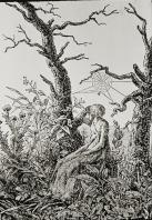 Caspar David Friedrich; Web of Melancholy; woodcut