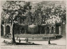 Giovanni Francesco Venturini; Fountain of the Tiburtine Sibyl; 1691; 24.2 x 34.5 cm; etching; Elizabeth Barlow Rogers Collection ( New York, NY)