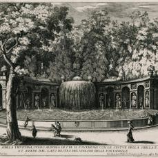 Giovanni Francesco Venturini; Fountain of the Tiburtine Sibyl; 1691; 24.2 x 34.5 cm; etching; Elizabeth Barlow Rogers Collection ( New York, NY)