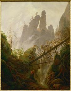 Caspar David Friedrich; Mountain Landscape; 1822-23; oil on canvas; 94 x 74 cm; Österreichische Galerie Belvedere