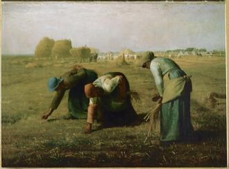 Jean-François Millet; The Gleaners; 1857; oil on canvas; 83.7 x 111 cm; Musée d'Orsay