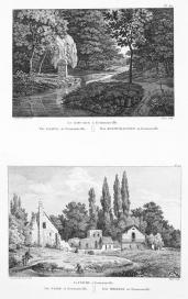 Alexandre de Laborde; Description des nouveaux jardins de la France et des ses anciens Chateaux, plates 39 and 40; 1808-1815; drawing