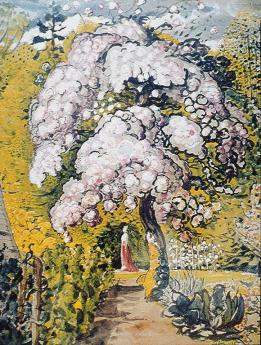 Samuel Palmer; In a Shoreham Garden; c.1829; watercolor and gouache