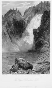 William Cullen Bryant (author), Thomas Moran (artist); Picturesque America, The Upper Yellowstone Falls; 1872-1874