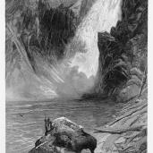 William Cullen Bryant (author), Thomas Moran (artist); Picturesque America, The Upper Yellowstone Falls; 1872-1874
