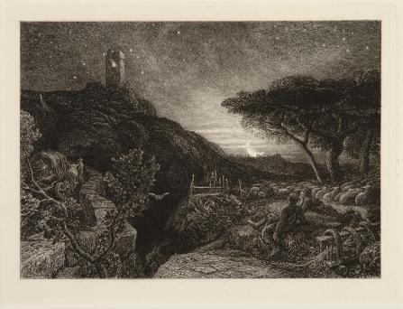 Samuel Palmer; The Lonely Tower; 1878-9; etching; Saint Louis Art Museum