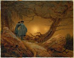 Caspar David Friedrich; Two Men Observing the Moon; 1819-20; 35 x 44.5 cm; Staatliche Kunstsammlungen Dresden