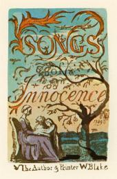 William Blake; Songs of Innocence, Title page; 1789; etching with watercolor; 11.7 x 7.3 cm; Library of Congress, Washington D.C.