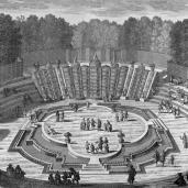 Adam Perelle; Chateau de Versailles, La Salle du Bal, Perspective; 16th-17th century