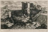 Giovanni Francesco Venturini; Side View of the Waterfall of the River Aniene in the City of Tivoli; etching; 1691; 22.8 x 34.5 cm; Elizabeth Barlow Rogers Collection (New York, NY)