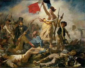 Eugène Delacroix; Liberty Leading the People; 1830; oil on canvas; 260 x 325 cm; Musee du Louvre