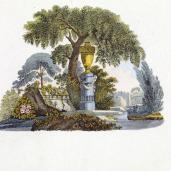 G. Van Laar; Magazijn van Tuin-Sieraaden, plate LXII; 1802; drawing
