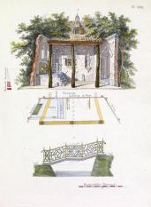 G. Van Laar; Magazijn van Tuin-Sieraaden, plate XXII; 1802; drawing