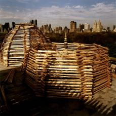 Alec Soth; Photo of Andy Goldsworthy piece in New York, NY; 2004
