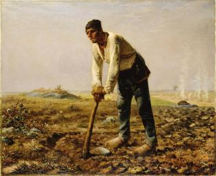 Jean-François Millet; Man with a Hoe; 1860-2; oil on canvas; The J. Paul Getty Museum at the Getty Center