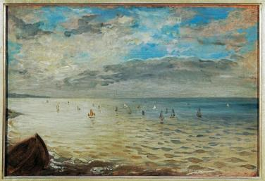 Eugène Delacroix; Sea at Dieppe; c.1852; oil on wood; 36 x 52 cm; Musée du Louvre