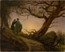 Caspar David Friedrich; Two Men Contemplating the Moon; 1830; oil on canvas; 34.9 x 43.8 cm; The Metropolitan Museum of Art