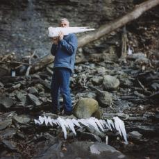 Alec Soth; USA. Ithaca, New York, Artist Andy Goldsworthy with Icicles; 2004
