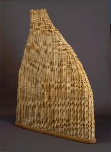 Martin Puryear; The Charm of Subsistence; 1989; rattan and gum wood; 214.9 x 168.9 x 26.7 cm; Saint Louis Art Museum