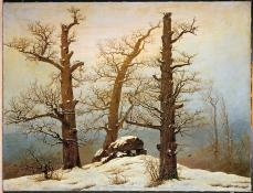 Caspar David Friedrich; Megalithic Cairn in the Snow; 1820; oil on canvas; 54 x 71 cm; Staatliche Kunstsammlungen Dresden