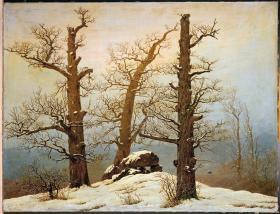 Caspar David Friedrich; Megalithic Cairn in the Snow; 1820; oil on canvas; 54 x 71 cm; Staatliche Kunstsammlungen Dresden