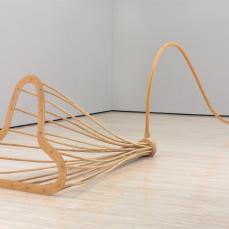 Martin Puryear; Lever #2; 1988; rattan, ponderosa pine, ash, and cypress; 179.1 x 739.8 x 138.7 cm; Baltimore Museum of Art