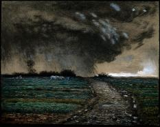 Jean-François Millet; Coming Storm; 1867-8; pastel on paper; 41.9 x 53.3 cm; Museum of Fine Arts, Boston