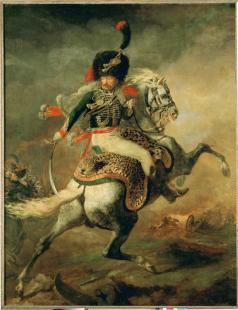 Théodore Géricault; Officer of the Imperial Guard on Horseback; 1812; oil on canvas; 3.49 x 2.66 m; Musée du Louvre