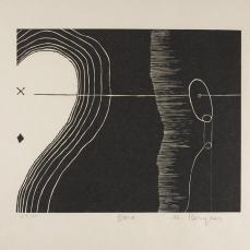 Martin Puryear; Bona, from the Cane portfolio; 2000; woodcut on handmade Japanese paper; 43.0 x 52.2 cm; Princeton University Art Museum