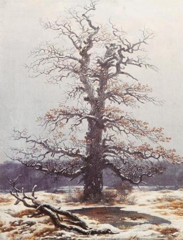 Caspar David Friedrich; Oak Tree in the Snow; 1806-19; oil on canvas; 44 x 34 cm