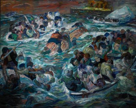 Beckmann_SinkingOfTitanic_1912