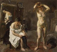 Beckmann_ThreeWomenInStudio_1908