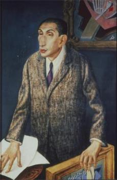 Otto Dix; Portrait of Alfred Flechtheim; 1926; mixed media; 120 x 80 cm