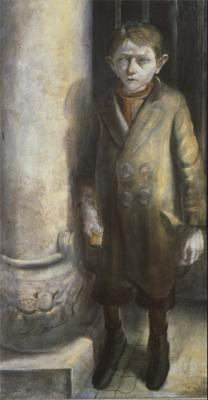 Otto Dix; Boy Dealing with Match Boxes II; 1926; mixed media; 120 x 65 cm