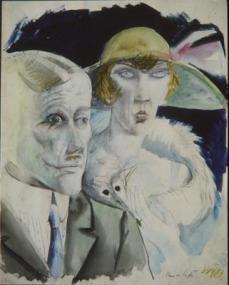 Otto Dix; Cafe Couple; 1921; 51 x 41 cm