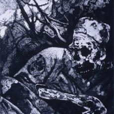 Otto Dix; Corpse in Barbed Wire; 1924; etching, aquatint; 30 x 24.3 cm