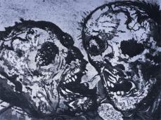 Otto Dix; Corpses from the Trenches at Tahure; 1924; etching, drypoint, aquatint; 19.7 x 25.8 cm