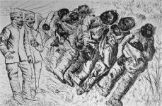 Otto Dix; Gastote (Gassed to Death); 1924; etching, drypoint, aquatint; 19.4 x 28.9 cm