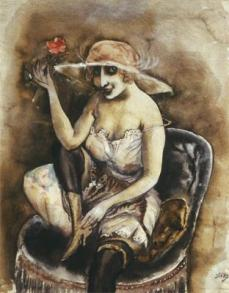 Otto Dix; Girl with Rose; 1923; 61 x 48 cm