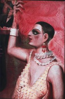 Otto Dix; Gosstadt (detail of female dancer); 1928; oil on canvas