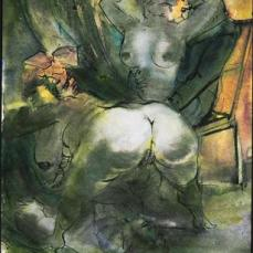 Otto Dix; Harbor Brothel; 1926; watercolor; 65 x 48 cm