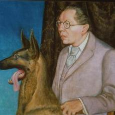 Otto Dix; Hugo Erfurth with Dog; 1926; oil on canvas; 80 x 100 cm