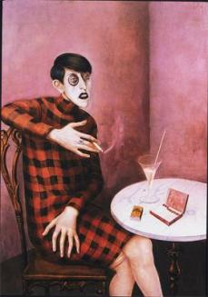 Otto Dix; Portrait of the Journalist Sylvia von Harden; 1926; oil on wood; 121 x 89 cm