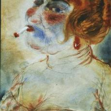 Otto Dix; Madame; 1923; 49 x 34 cm
