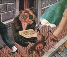 Otto Dix; Match Seller; 1920; 142 x 166 cm