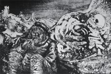 Otto Dix; Mealtime in the Trench; 1924; etching, drypoint; 19.6 x 29 cm