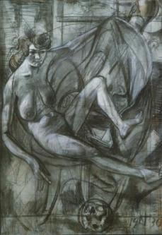 Otto Dix; Melancholy Drawing; 1930; chalk