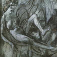 Otto Dix; Melancholy Drawing; 1930; chalk