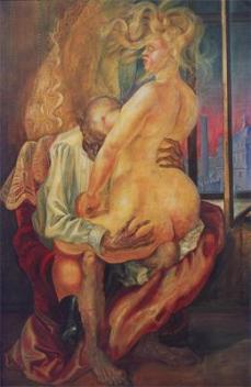 Otto Dix; Mismatched Lovers; 1925; tempera; 180 x 100 cm