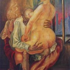 Otto Dix; Mismatched Lovers; 1925; tempera; 180 x 100 cm